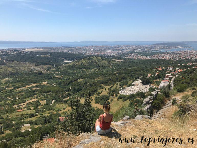 Vistas desde Klis (Croacia)