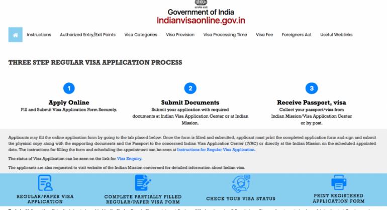 sacar visado en la India