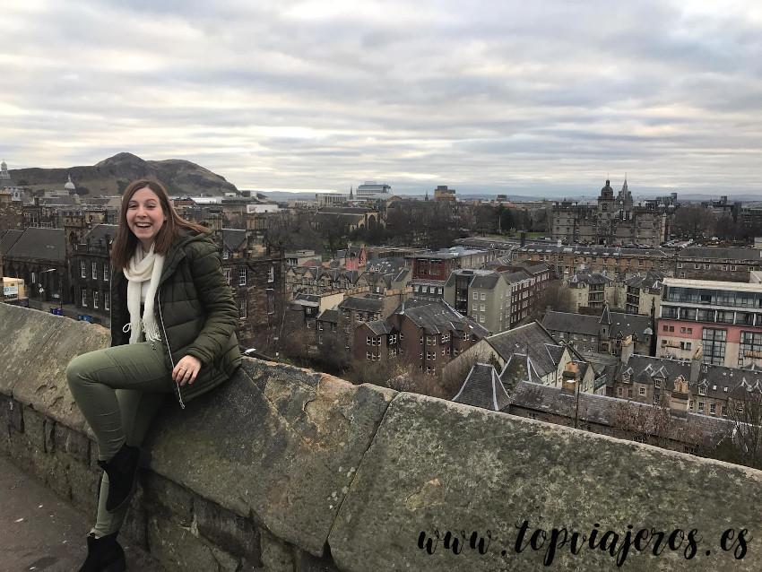 Vistas desde el castillo de Edimburgo