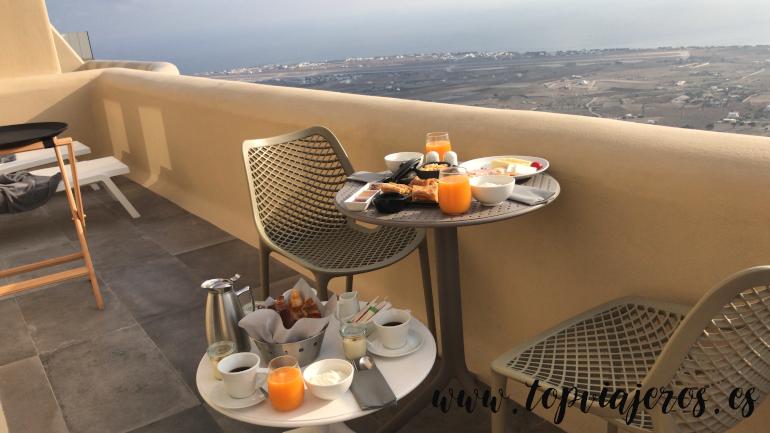 Desayuno Hotel Skyfall Luxury Suites