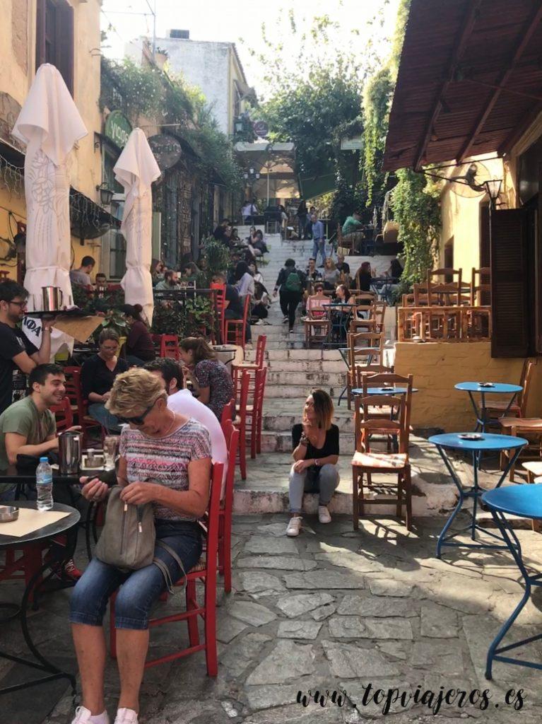 Barrio de Plaka Atenas