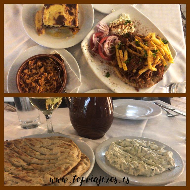 Restaurante comida típica griega