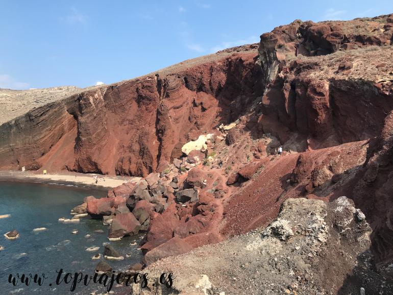 Playa Roja Santorini (Red Beach Santorini)