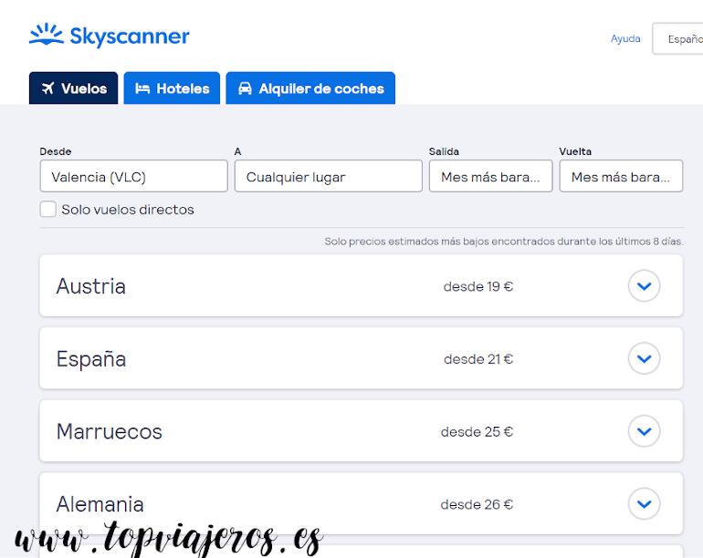 Ofertas skyscanner - Viajar barato