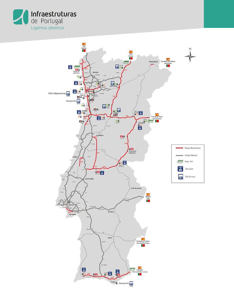 Autopistas De Portugal Peaje Convencional Vs Electronico
