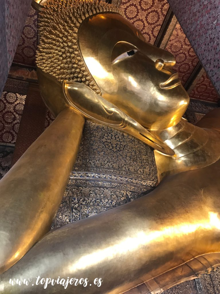 What Pho, Temple of Reclining Buda Bangkok o buda reclinado  (Tailandia)